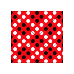 Red & Black Polka Dot Pattern Acrylic Tangram Puzzle (4  x 4 )