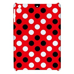 Red & Black Polka Dot Pattern Apple iPad Mini Hardshell Case