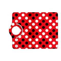 Red & Black Polka Dot Pattern Kindle Fire HD (2013) Flip 360 Case