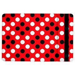 Red & Black Polka Dot Pattern iPad Air 2 Flip