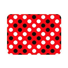 Red & Black Polka Dot Pattern Double Sided Flano Blanket (Mini)