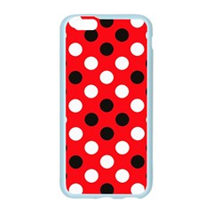 Red & Black Polka Dot Pattern Apple Seamless iPhone 6/6S Case (Color)