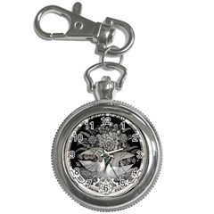 Swans Floral Pattern Vintage Key Chain Watches