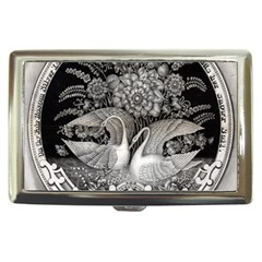 Swans Floral Pattern Vintage Cigarette Money Cases