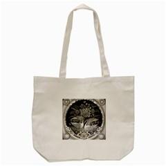 Swans Floral Pattern Vintage Tote Bag (Cream)