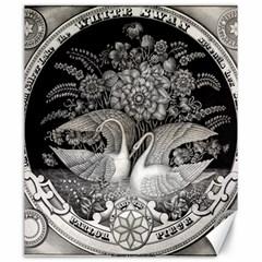 Swans Floral Pattern Vintage Canvas 20  x 24
