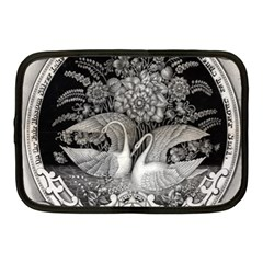 Swans Floral Pattern Vintage Netbook Case (Medium)