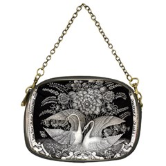 Swans Floral Pattern Vintage Chain Purses (One Side)