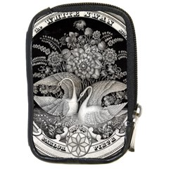 Swans Floral Pattern Vintage Compact Camera Cases
