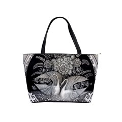 Swans Floral Pattern Vintage Shoulder Handbags