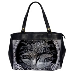 Swans Floral Pattern Vintage Office Handbags
