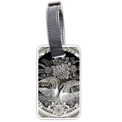 Swans Floral Pattern Vintage Luggage Tags (Two Sides)