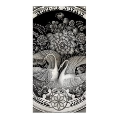 Swans Floral Pattern Vintage Shower Curtain 36  x 72  (Stall)