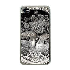 Swans Floral Pattern Vintage Apple iPhone 4 Case (Clear)