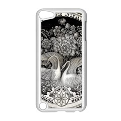 Swans Floral Pattern Vintage Apple iPod Touch 5 Case (White)