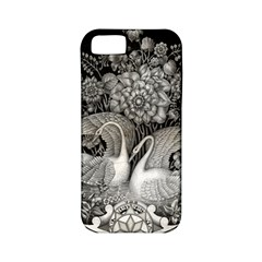 Swans Floral Pattern Vintage Apple Iphone 5 Classic Hardshell Case (pc+silicone)