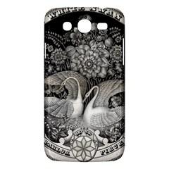 Swans Floral Pattern Vintage Samsung Galaxy Mega 5 8 I9152 Hardshell Case
