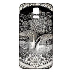 Swans Floral Pattern Vintage Samsung Galaxy S5 Back Case (White)