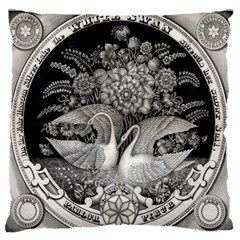 Swans Floral Pattern Vintage Standard Flano Cushion Case (one Side)
