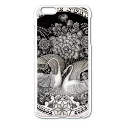 Swans Floral Pattern Vintage Apple iPhone 6 Plus/6S Plus Enamel White Case