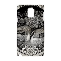 Swans Floral Pattern Vintage Samsung Galaxy Note 4 Hardshell Case