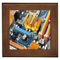 Technology Computer Chips Gigabyte Framed Tiles