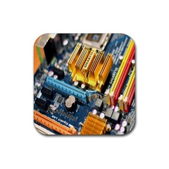 Technology Computer Chips Gigabyte Rubber Coaster (Square)