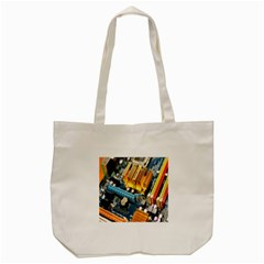 Technology Computer Chips Gigabyte Tote Bag (Cream)