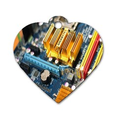 Technology Computer Chips Gigabyte Dog Tag Heart (Two Sides)