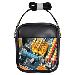 Technology Computer Chips Gigabyte Girls Sling Bags