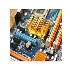 Technology Computer Chips Gigabyte Small Satin Scarf (Square)