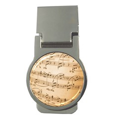 Music Notes Background Money Clips (Round)