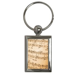 Music Notes Background Key Chains (Rectangle)