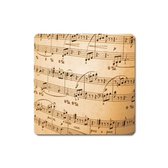 Music Notes Background Square Magnet