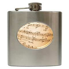 Music Notes Background Hip Flask (6 oz)