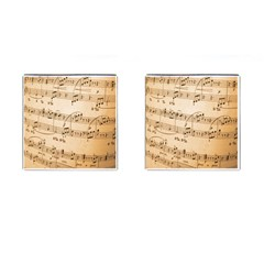 Music Notes Background Cufflinks (Square)