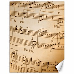 Music Notes Background Canvas 12  x 16