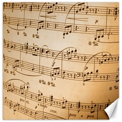 Music Notes Background Canvas 16  x 16