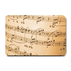 Music Notes Background Small Doormat