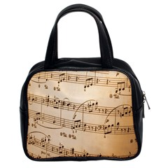 Music Notes Background Classic Handbags (2 Sides)