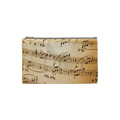 Music Notes Background Cosmetic Bag (Small)