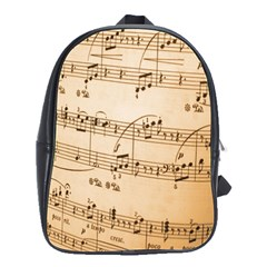 Music Notes Background School Bags(Large)
