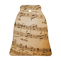 Music Notes Background Bell Ornament (Two Sides)