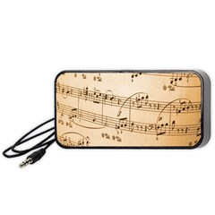 Music Notes Background Portable Speaker (black)