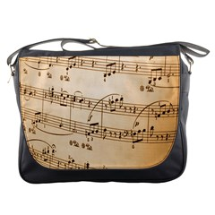 Music Notes Background Messenger Bags
