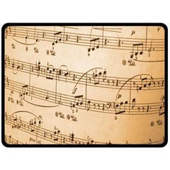 Music Notes Background Double Sided Fleece Blanket (Large)