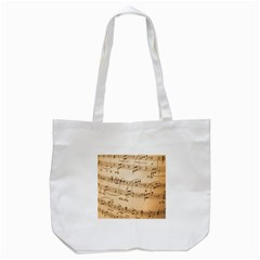 Music Notes Background Tote Bag (White)