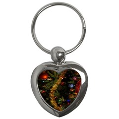 Night Xmas Decorations Lights  Key Chains (heart)