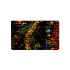 Night Xmas Decorations Lights  Magnet (Name Card)