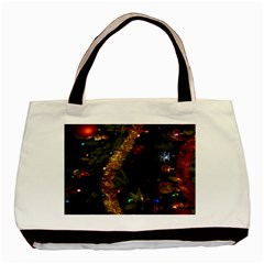 Night Xmas Decorations Lights  Basic Tote Bag (Two Sides)